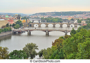 Top-view of Prague