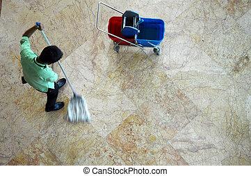 mop floors