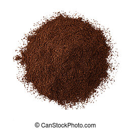 Top view of roast ground coffee