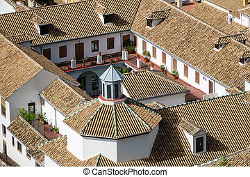 Top view of roof in granada