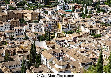Top view of roofs in granada