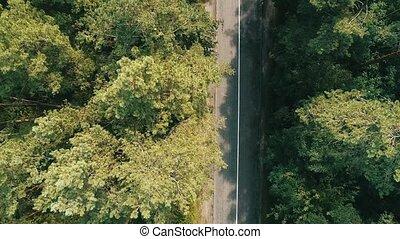 Top View of Rural Road.