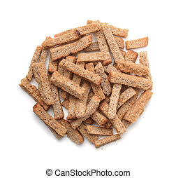 Top view of rye rusk pile