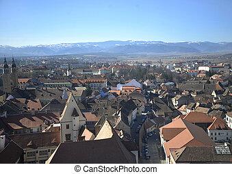 top view of sibiu