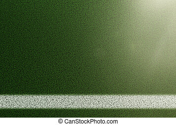 top view of sideline on grass soccer field