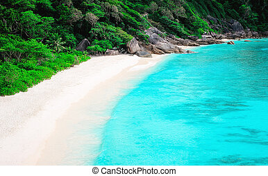 Top view of Similan island. Thailand - Top view of Similan ...