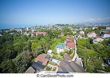 Top view of Sochi city