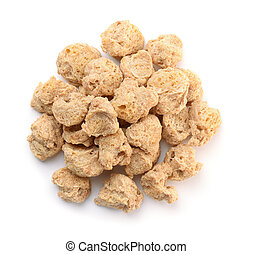 Top view of soya chunks