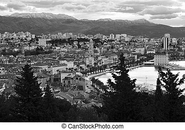 Top view of Split city