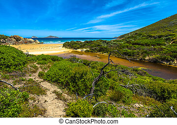 Wilsons Promontory National Park - Top view of Squeaky Beach...