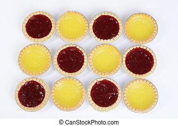 strawberry and lemon tarts background