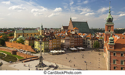 Old center of Warsaw, Poland.