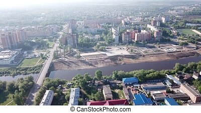 Top view of the city Orekhovo-Zuyevo. Russian Federation - ...