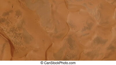 top view of the desert from the drone