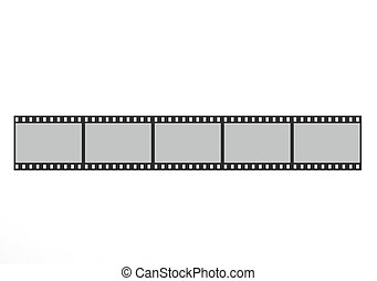 Top view of the film strip