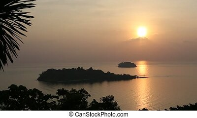 Top view of the Koh Chang island