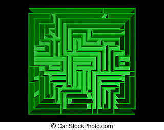 Top view of the maze