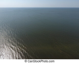 Top view of the Sea of Azov. Seaside Resort.
