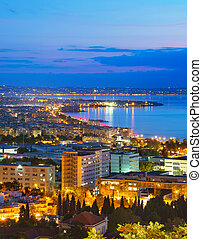 Top view of Thessaloniki, Greece