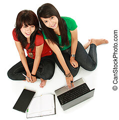 Two girls-students