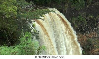 Top view of wailua waterfall on Kauai