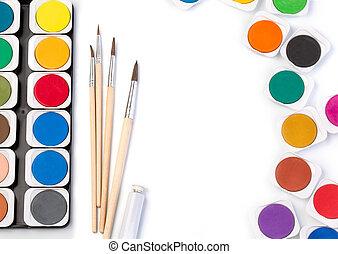 Work Process Blank Watercolor Paper pad, Watercolor