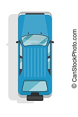 Top view off road jeep isolated vector icon