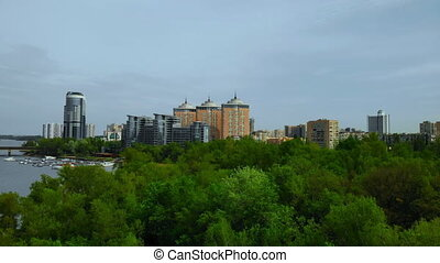 top view on cityscape in Ukraine