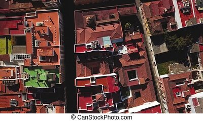 Top view on houses in San Cristobal De La Laguna, Tenerife,...