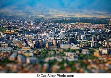 Top view on Skopje city in Macedonia - Top view from Vodno...