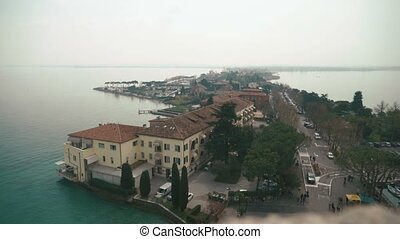 Top view on the landscape of lake Garda, Italy.