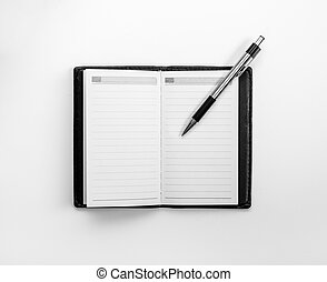 blank notebook for corporate identity template