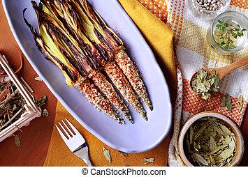 cuban corn served as spanish tapas