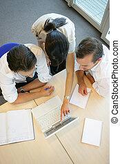 top-view, réunion,  Business