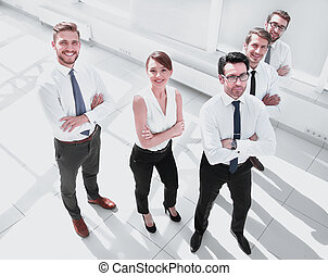 top view. successful business team