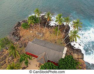 Top view to ocean in Sri-Lanka