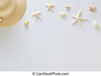 Top view vacation summer background