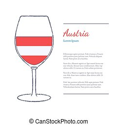 Top wine producing countries - Rough brush stroked wine...