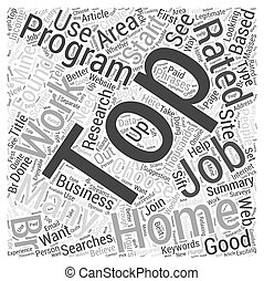 Top Work at Home Jobs Word Cloud Concept