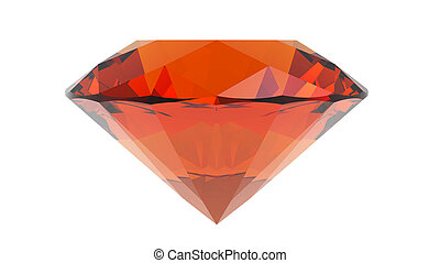 Topaz jewel isolated on white background, 3d render