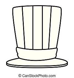 tophat with united states of america flag vector...