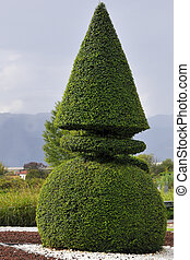 topiary, composition, typique
