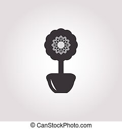 topiary icon on white background for web