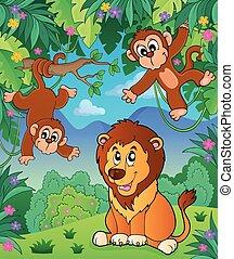 topic, イメージ, 動物, ジャングル, 6