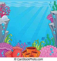 topic, イメージ, 4, 海中の