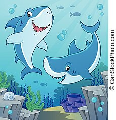 topic, サメ, イメージ, 4
