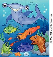 topic, 動物群, イメージ, 7, 海洋