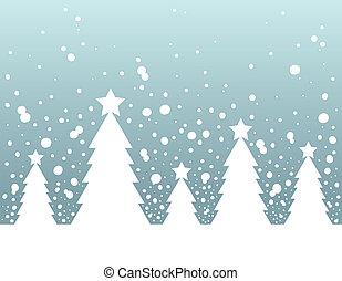 topic, 木2, シルエット, クリスマス