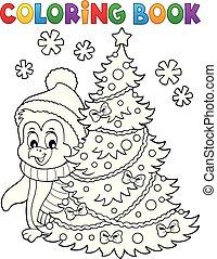topic, 本, ペンギン, 着色, クリスマス, 6