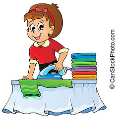 topic, 1, beeld, huisvrouw